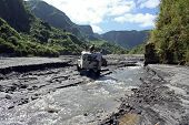 off road driving near mount pinatubo the philippines poster