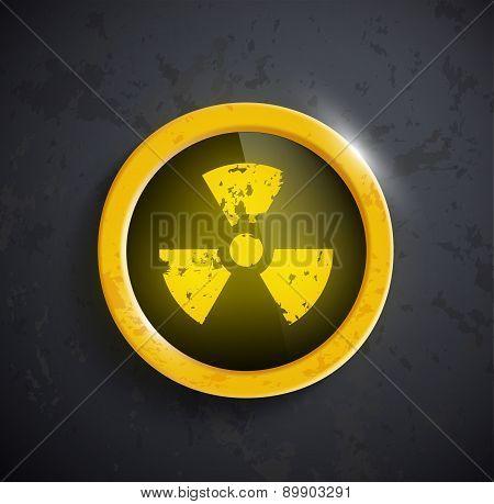 sign of the radioactivity