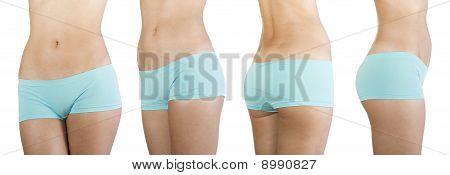 Beautiful female body isolated on white