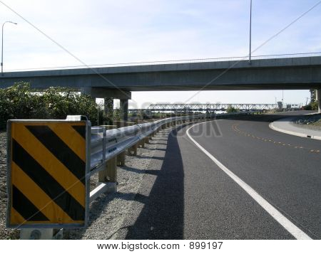 Guardrail And Underpass