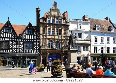 Town centre shops, Shrewsbury.