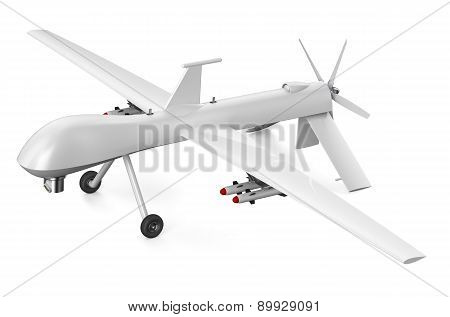 unmanned aerial vehicle UAV isolated on white background poster