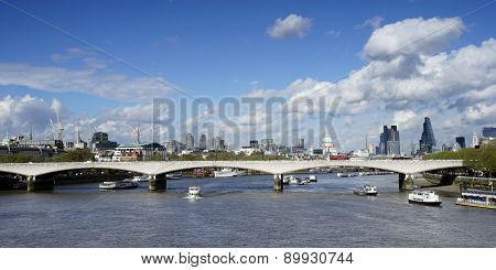 London Skyline, Include Waterloo Bridge