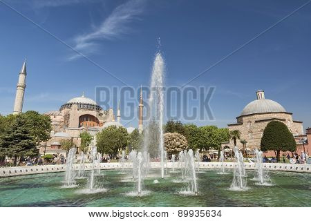 Fountain In Front Of Hagia Sophia, Istanbul, Turkey