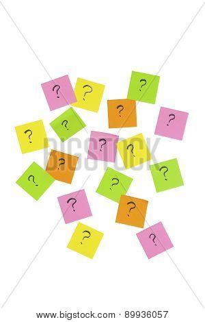 Question mark note sticker