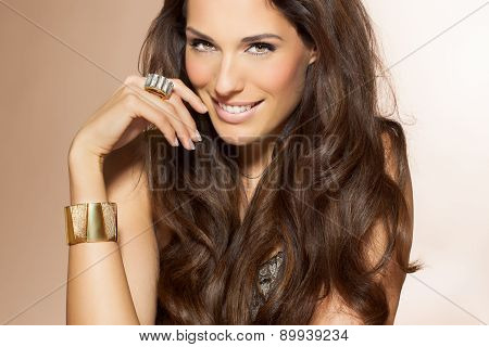 Woman With Beautiful Hair