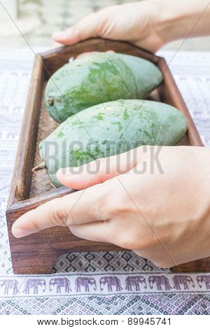 Fresh Raw Green Sweet Mango
