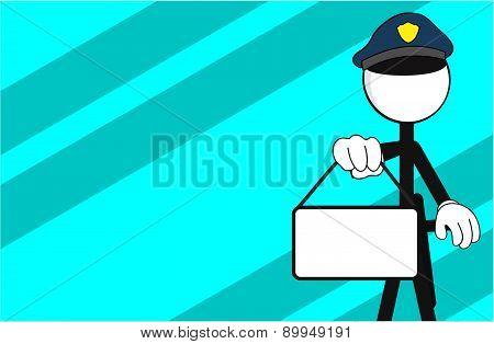 police man pictogram singboard background