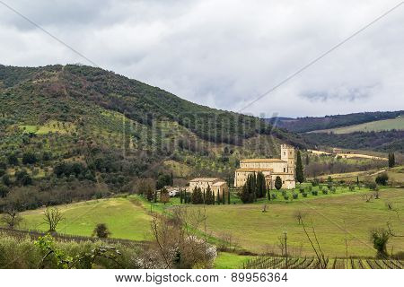 Abbey Of Sant Antimo, Italy