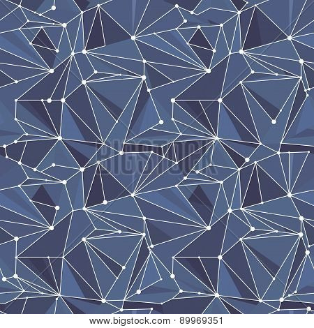 Indigo Geometric Vector Pattern