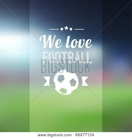 Blurred Soccer Football Background With Stadium, Vector