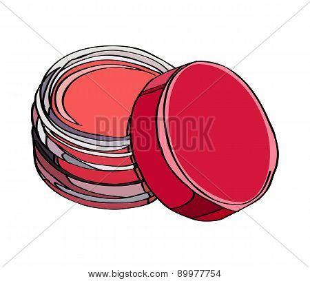 Cosmetics for Lips: lip gloss, lip balm poster