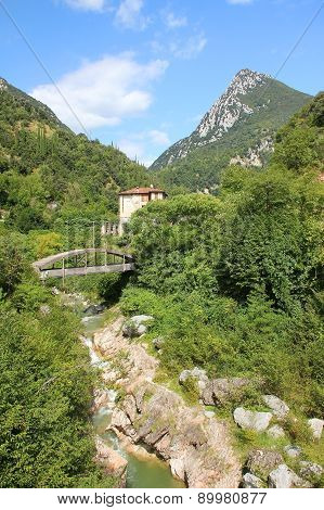 Historic Paper Mill Valley Near Toscolano, Italy