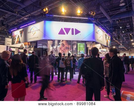 LAS VEGAS, NV - April 15: AVID at NAB Show 2015, an annual trade show by the National Association of Broadcasters.1726 exhibitors on 2,000,000 sq feet space of Las Vegas Convention Center, April 13-16
