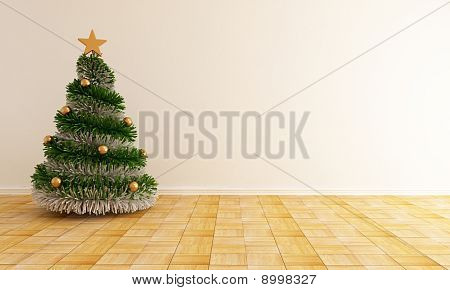 Empty Christmas Interior