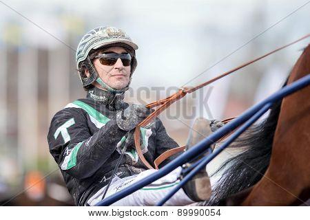 Harness driver Johnny Takter