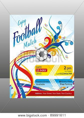 Abstract Colorful Football Flyer
