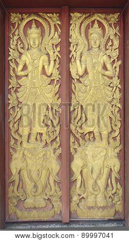 Detail Of Temple's Door