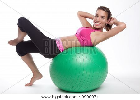 Working Out Fitness Ball