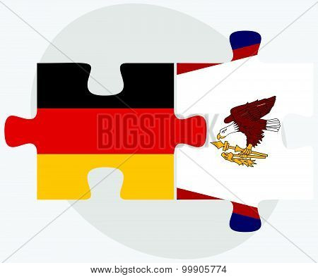 Germany And American Samoa Flags