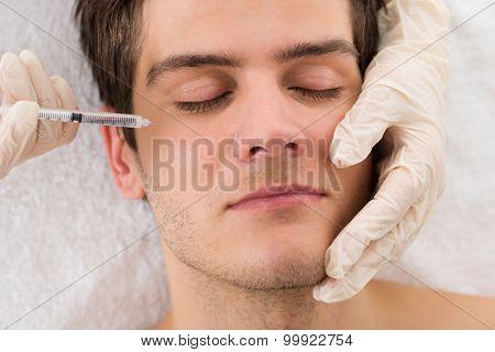 Man Receiving Wrinkle Treatment