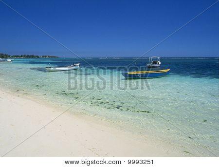 Grand Baie Beach And Lagoon Mauritius Island
