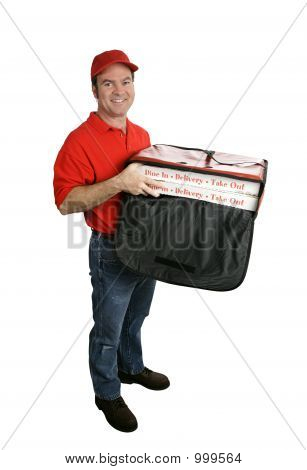 Pizza Delivery Full Body Isolated