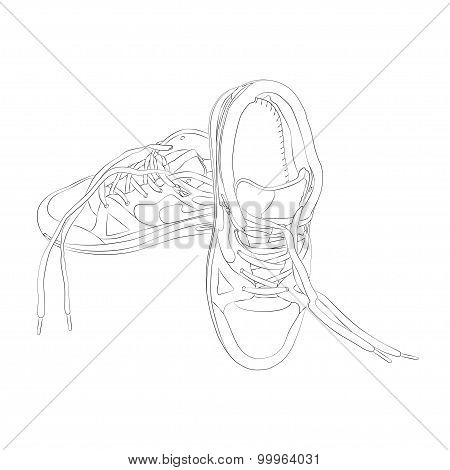 vector sport footware isolated on white background