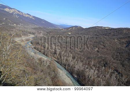 Iori River valley. Georgia