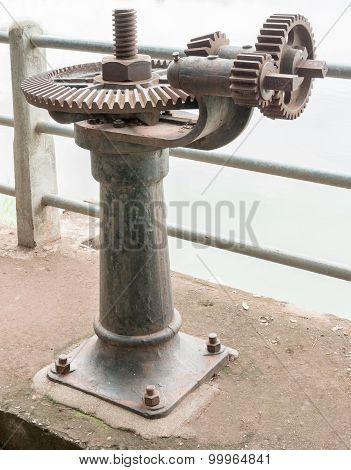 Old Rust Gear Of Sluice