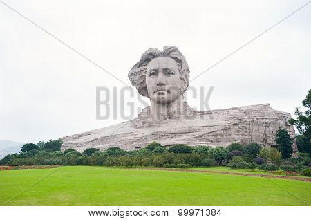 Chairman Mao Statue In Changsha, Hunan Province, China