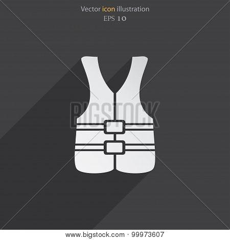 Vector life jacket icon