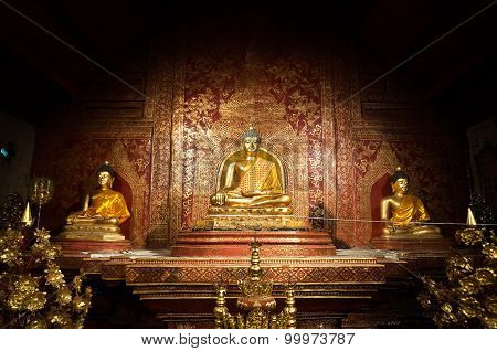 Phra Singh Buddha at Wat Phra Singh, Chiang Mai, Thailand