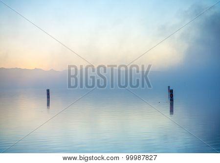 Lake In Morning Mist