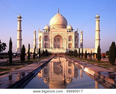 The Taj Mahal, India.