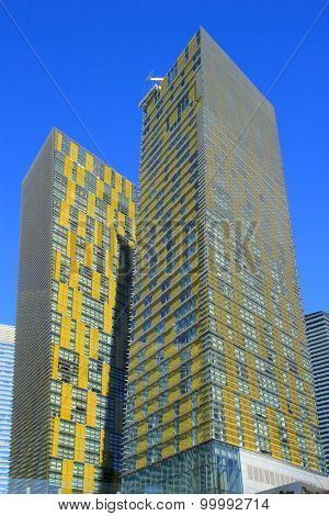 Las Vegas, Usa - March 19: Veer Twin Residential Towers On March 19, 2013 In Las Vegas, Usa. Las Veg
