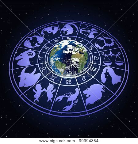 Zodiac Signs Around The Planet Earth