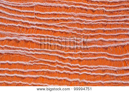 Orange Background With Tenuous Gauze On The Surface