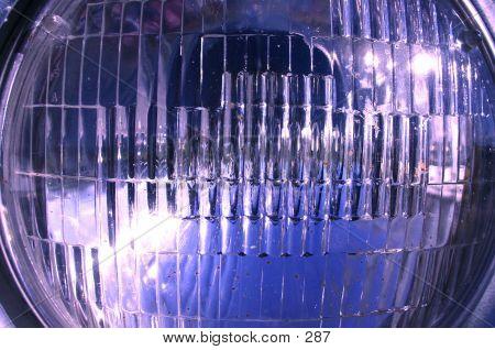 headlight head lamp close up glass poster