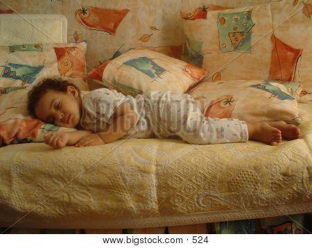 My daughter Hana sleeping poster