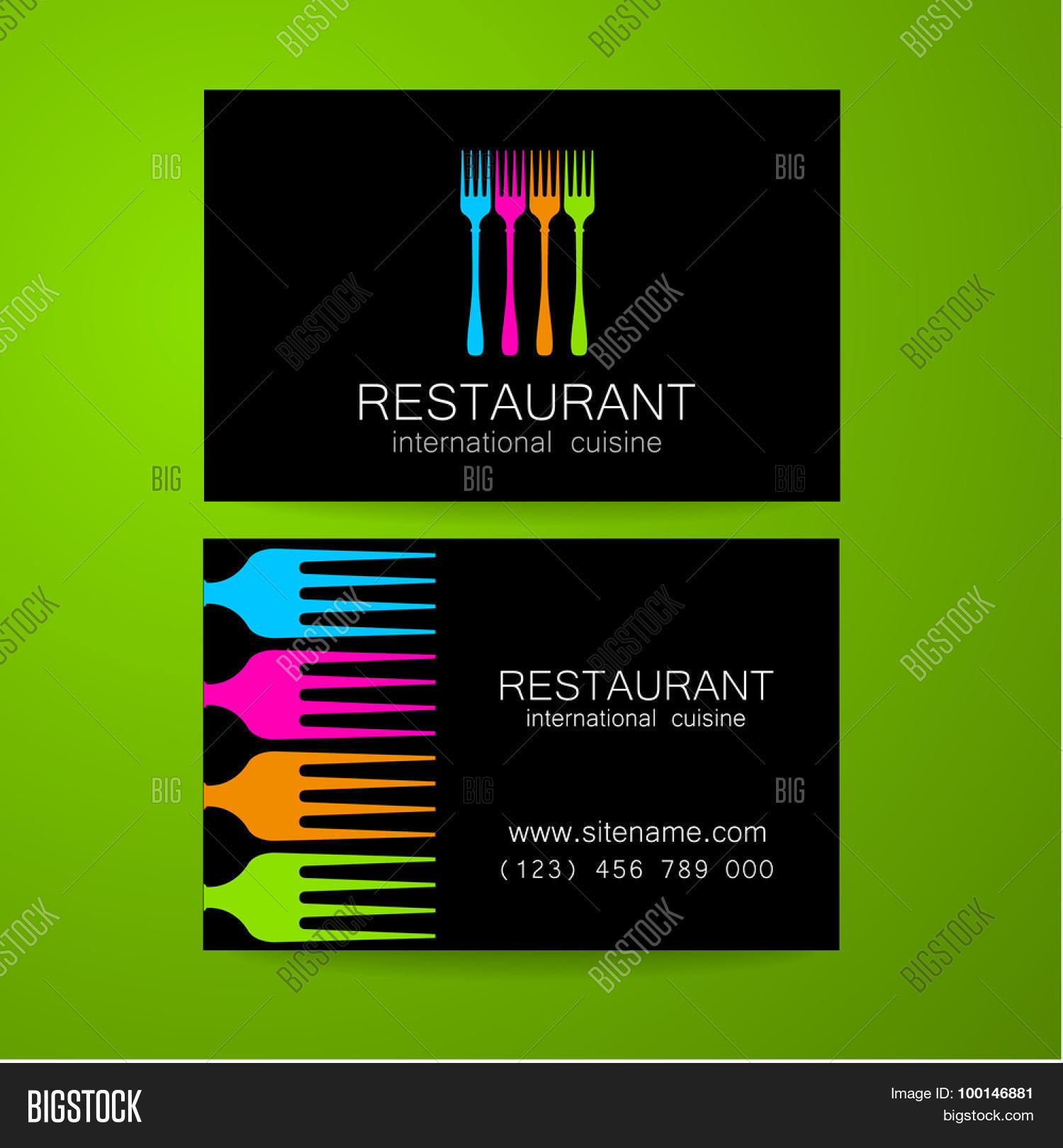 restaurant logo template design vector photo
