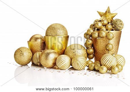 Gold Christmas Decorations