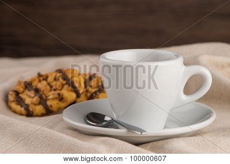 White Coffee Cup With Coffee