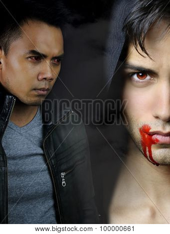 a vampire story - two handsome vampires
