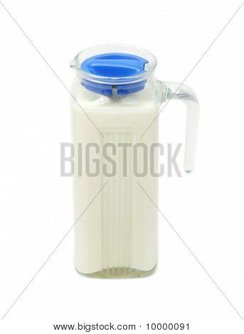 Melk in glazen pot