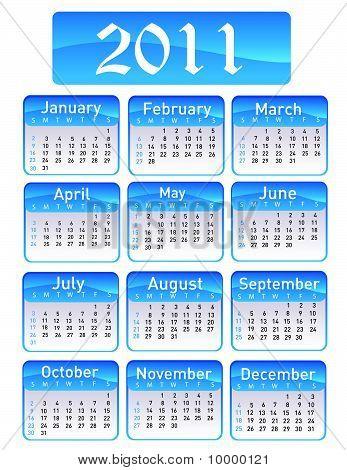 Calendario para el año 2011