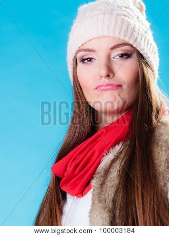 People Concept - Teenage Girl Making Silly Face