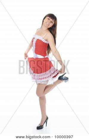 穿红衣服的女人