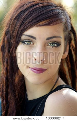 Beautiful Young Redhead Outdoor Headshot (1)