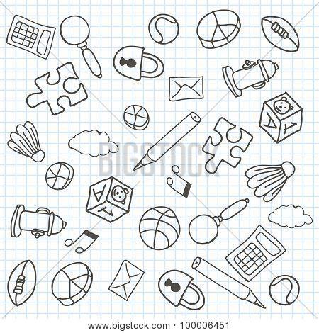 Doodle Background. Vector Illustration